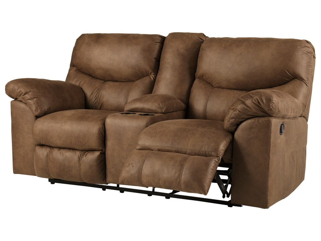 Signature Design by Ashley BoxbergDouble Reclining Loveseat with Console