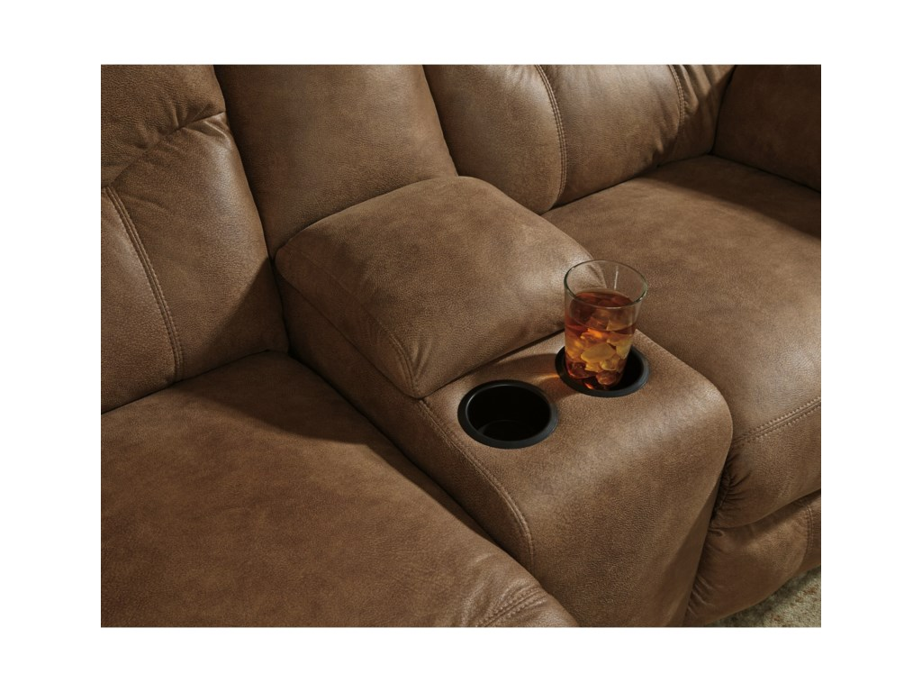 Ashley (Signature Design) BoxbergDouble Reclining Power Loveseat with Console