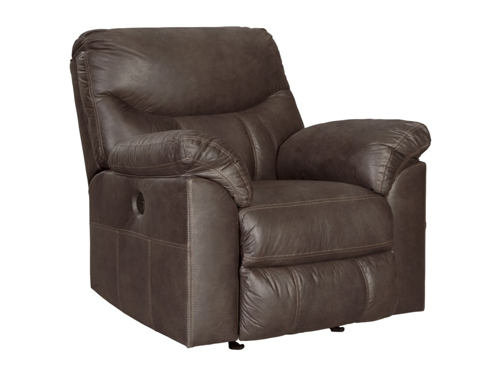 Boxberg Casual Rocker Recliner with Pillow Arms by Signature Design by  Ashley at Becker Furniture World