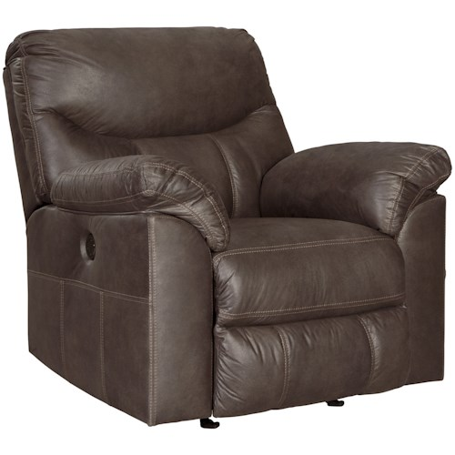 Signature Design by Ashley Boxberg Casual Rocker Recliner with Pillow Arms