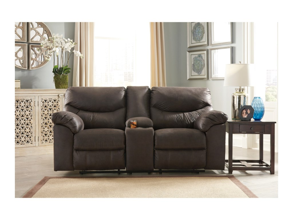 StyleLine BoxbergDouble Reclining Loveseat with Console