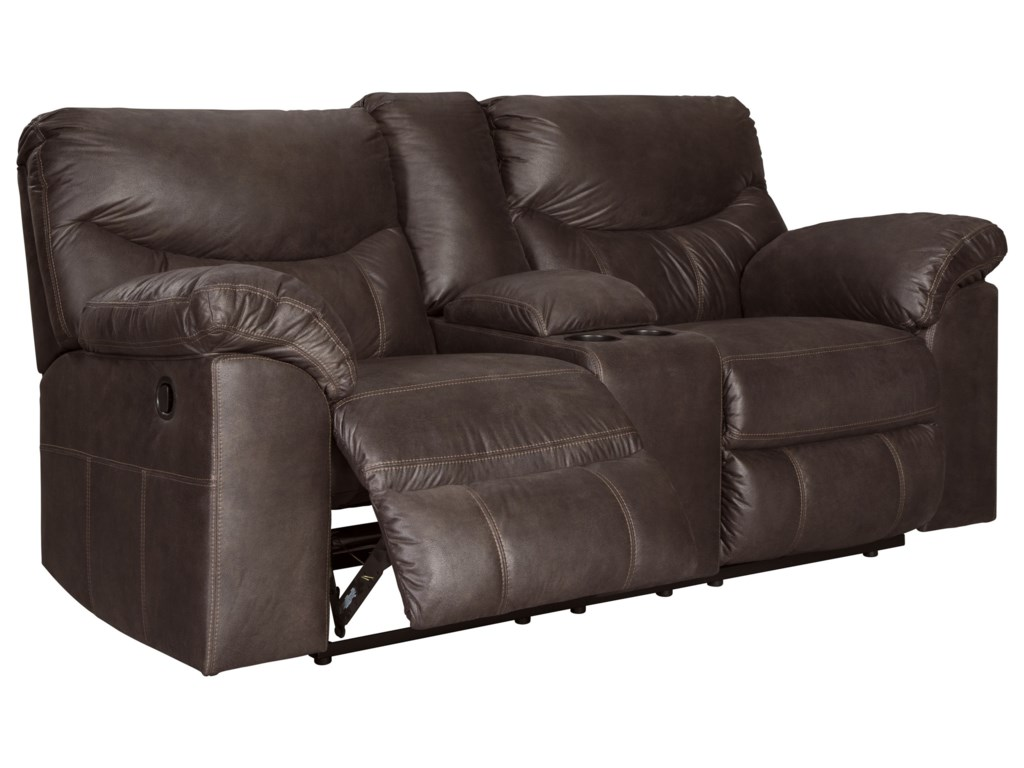 Signature Design by Ashley BoxbergDouble Reclining Power Loveseat with Console