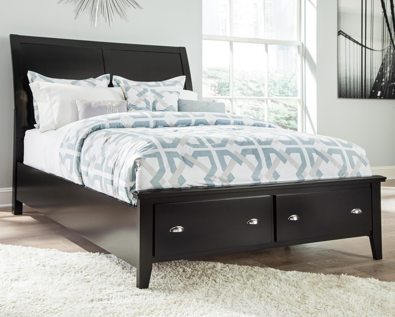 Ashley Signature Design Braflin Queen Storage Bed With Sleigh Headboard    Dunk U0026 Bright Furniture   Platform Beds/Low Profile Beds