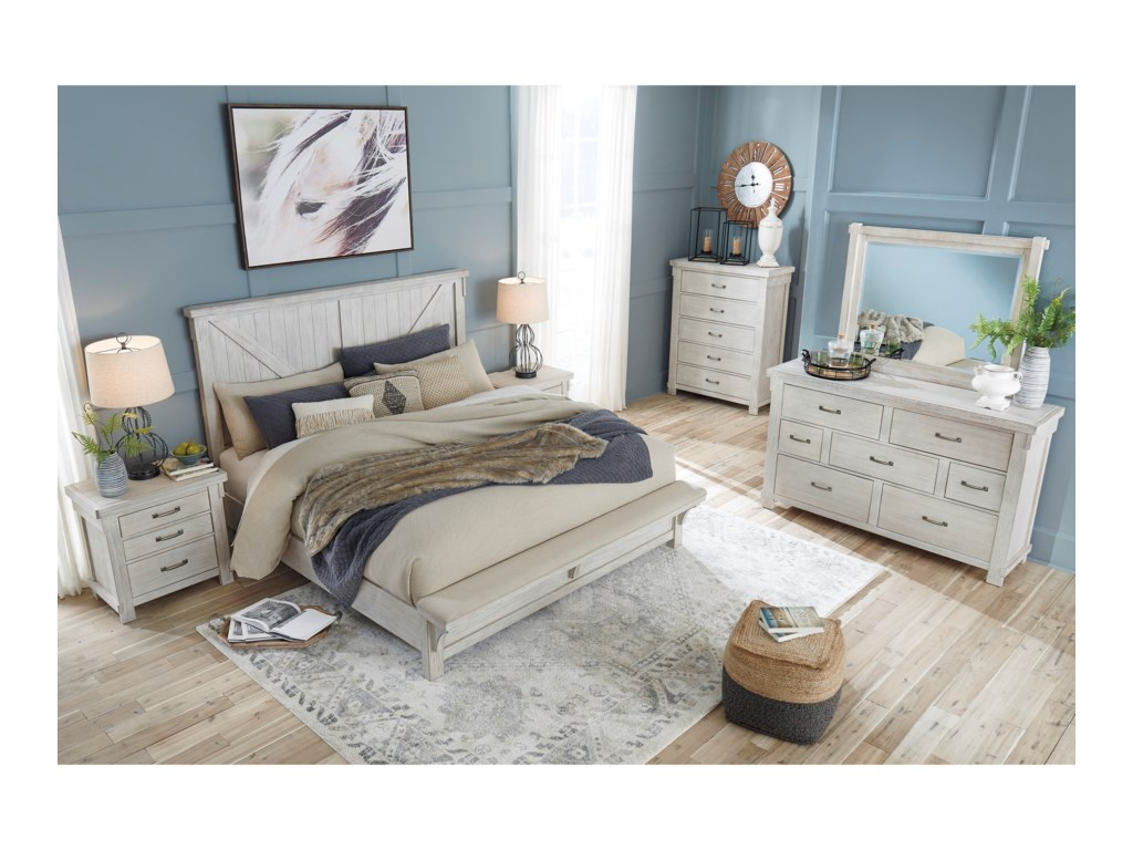 Signature Design by Ashley BrashlandQueen Bed with Footboard Bench