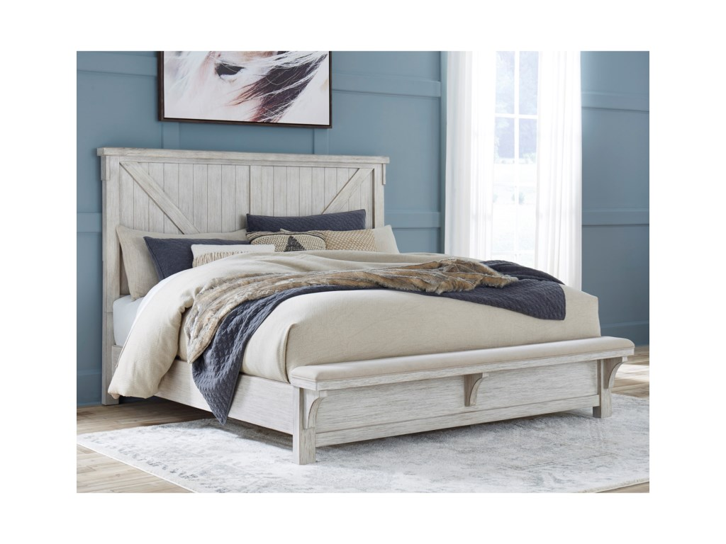 Ashley (Signature Design) BrashlandQueen Bed with Footboard Bench