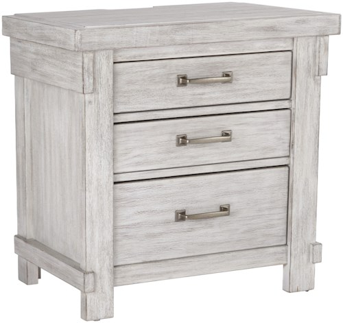 Signature Design by Ashley Brashland Relaxed Vintage 3 Drawer Night Stand