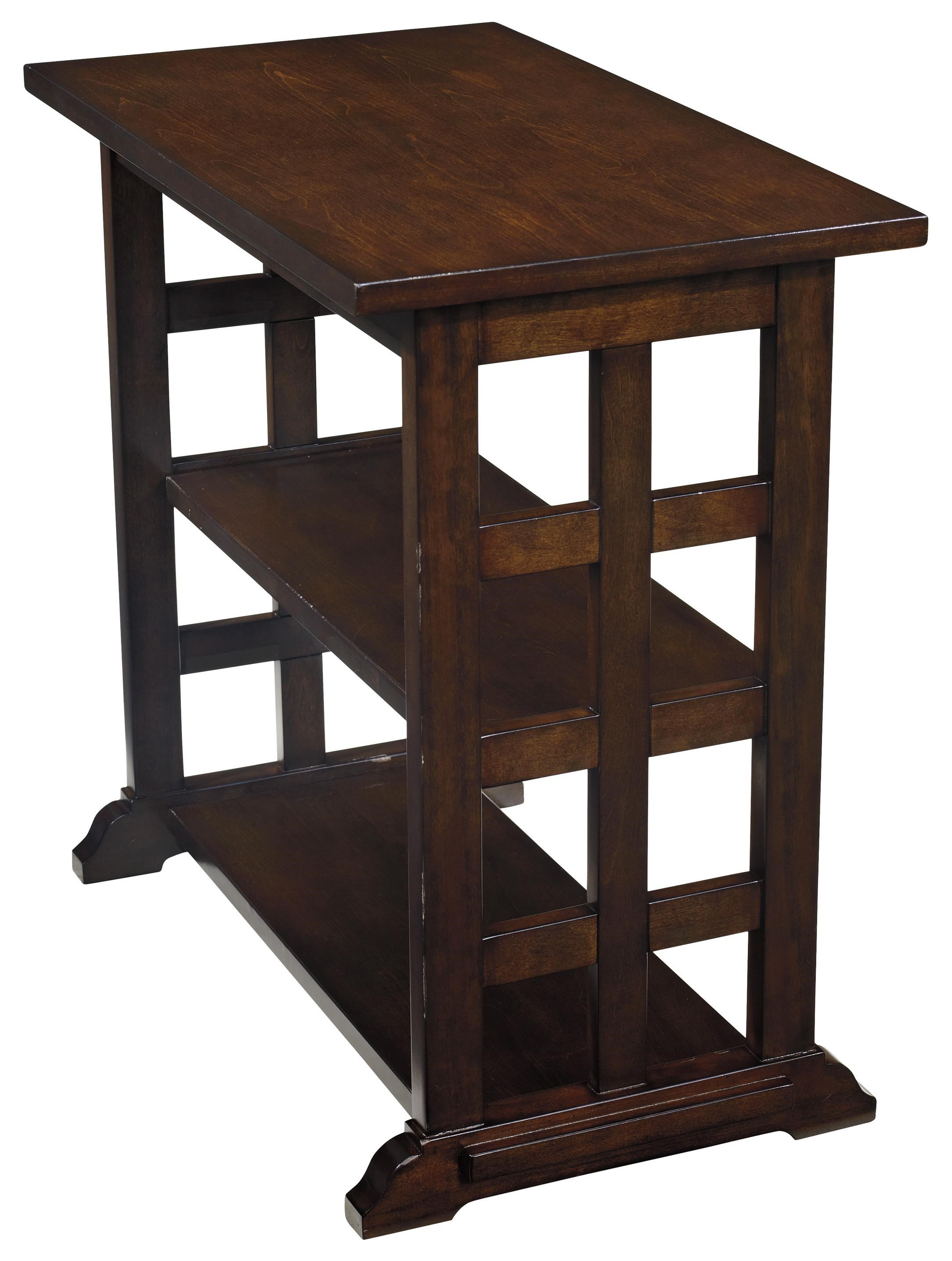 Charmant Signature Design By Ashley Braunsen Chair Side End Table With Lattice  Design U0026 2 Shelves