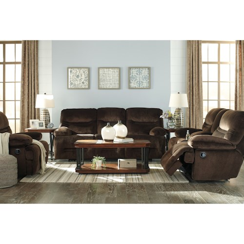 Signature Design By Ashley Brayburn Reclining Living Room Group
