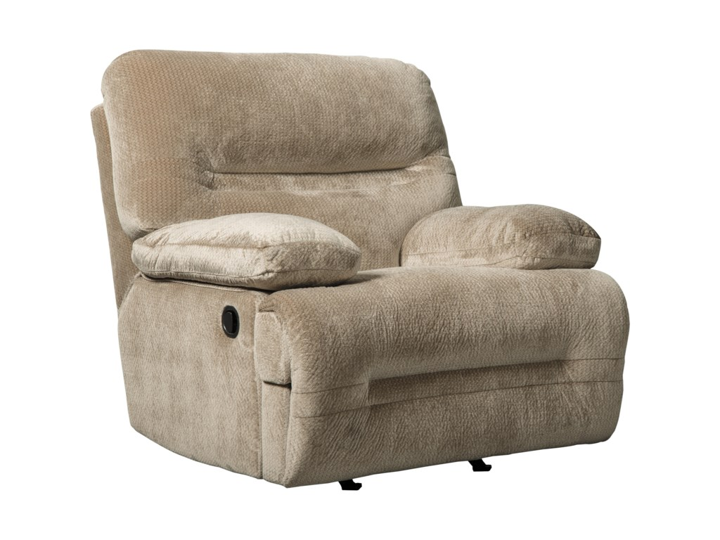 Manual Recliner Shown; Handle Differs on Power Recliner