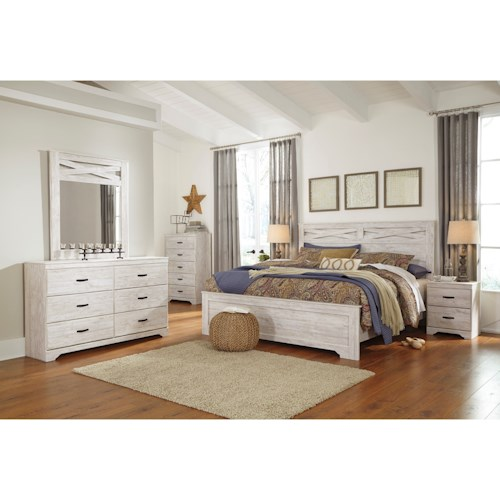 Signature Design By Ashley Briartown King Bedroom Group Westrich - Bedroom appliances