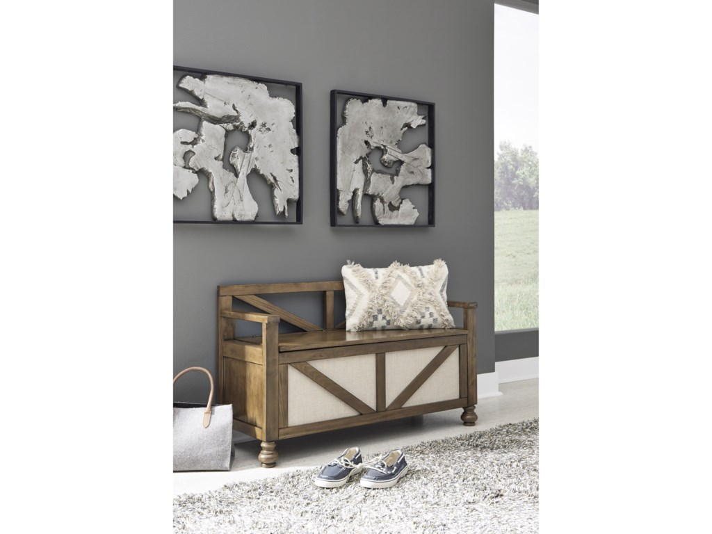Signature Design by Ashley BrickwellStorage Bench