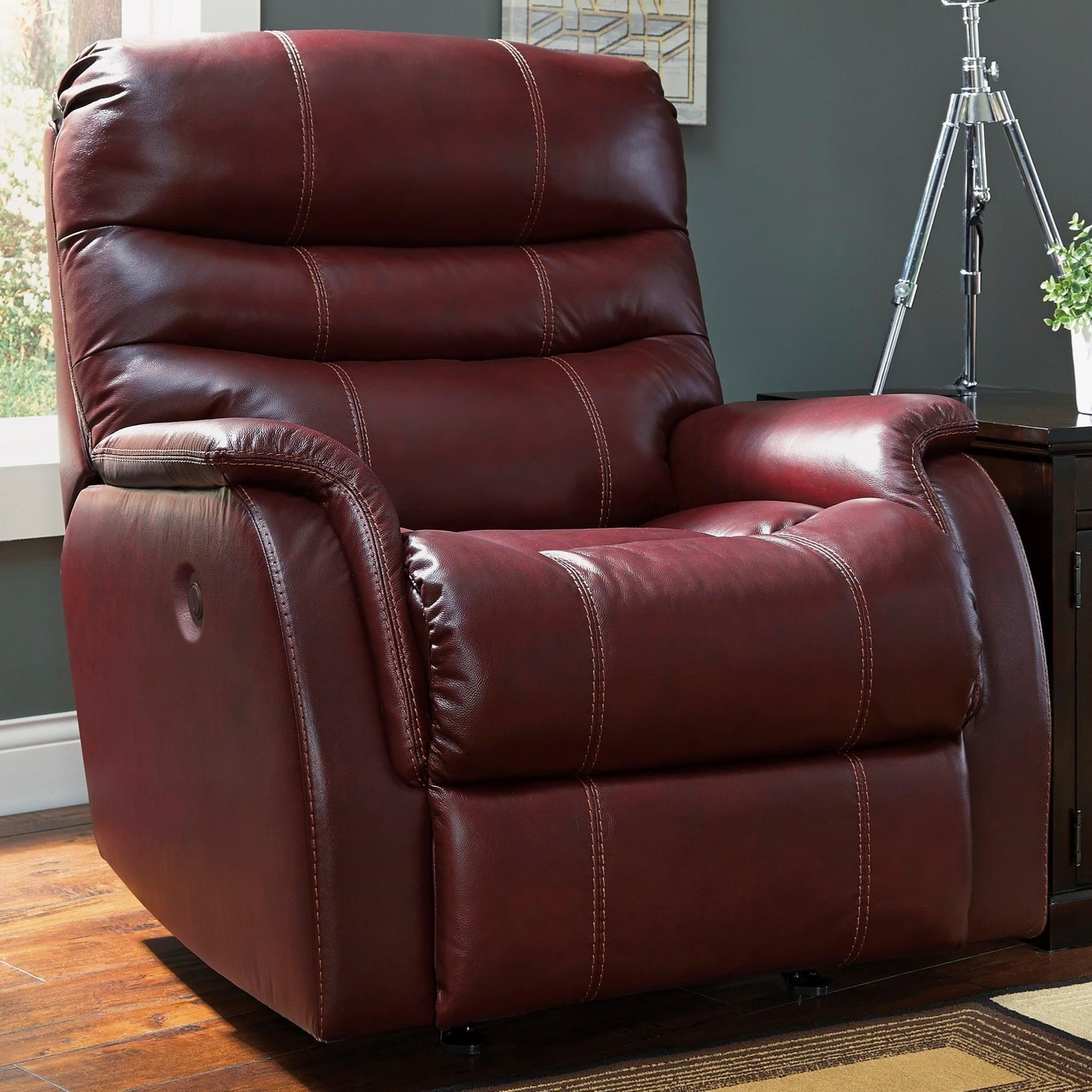 Signature Design by Ashley Bridger Contemporary Leather Match Power Rocker Recliner & Signature Design by Ashley Bridger Contemporary Leather Match ... islam-shia.org
