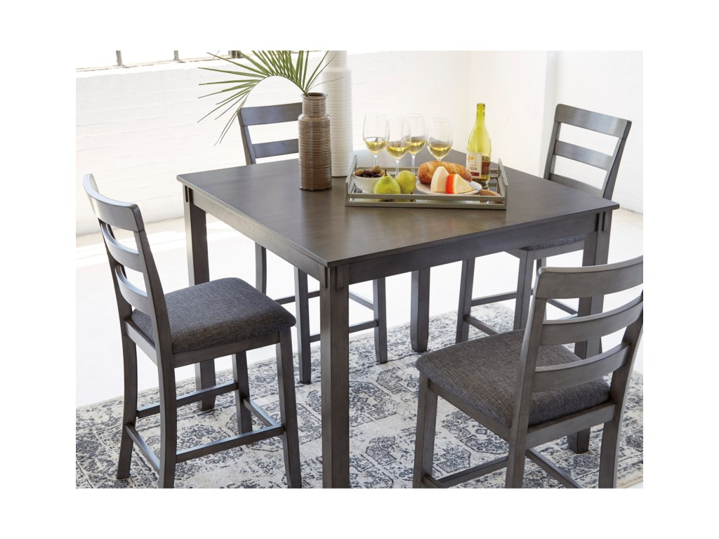 Signature Design By Ashley Bridson 5 Piece Square Counter Table Set Royal Furniture Pub Table And Stool Sets