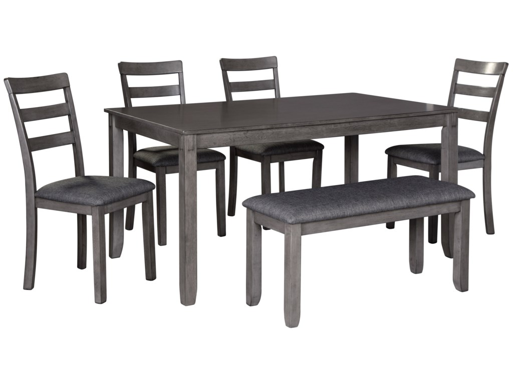 Ashley (Signature Design) Bridson6-Piece Rectangular Dining Room Table Set