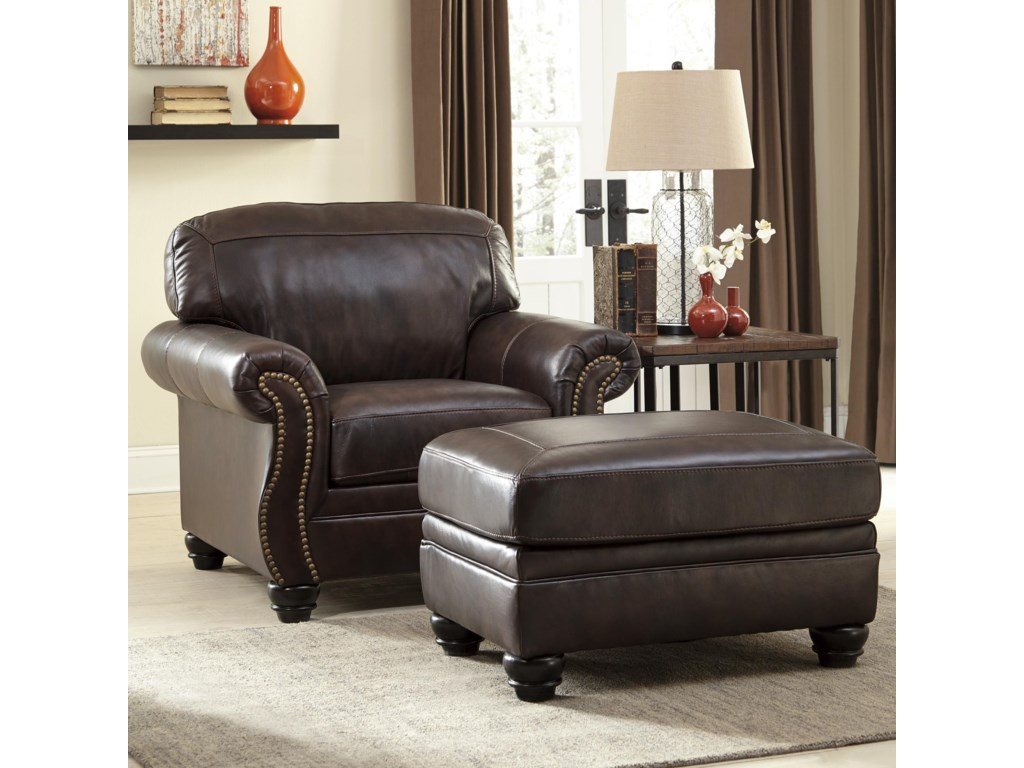 Bristan traditional chair ottoman by signature design by ashley