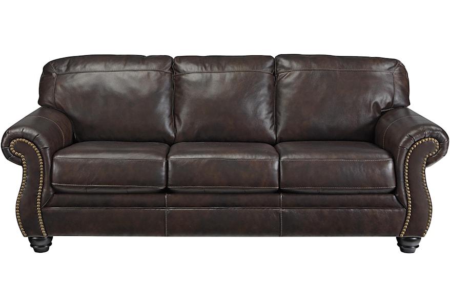 Brisbane Traditional Leather Match Sofa
