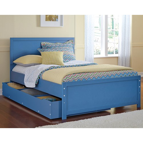 Signature Design by Ashley Bronilly Full Panel Bed with Under Bed Trundle Storage
