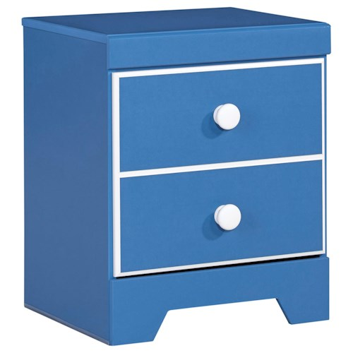Signature Design by Ashley Bronilly One Drawer Night Stand with USB Charger