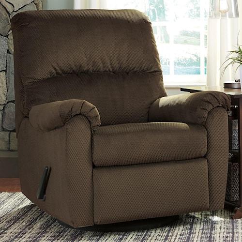 Signature Design by Ashley Bronwyn Swivel Glider Recliner with 360 Degree Swivel - glider recliner chair