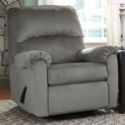 Signature Design by Ashley Bronwyn Swivel Glider Recliner with 360 Degree Swivel