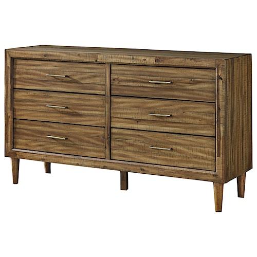 Signature Design by Ashley Broshtan Mid-Century Modern 6 Drawer Dresser