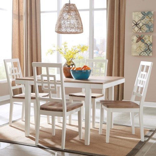 White Dinner Table Set Full Size Of Dining Room Setwhite: Signature Design By Ashley Brovada Contemporary White