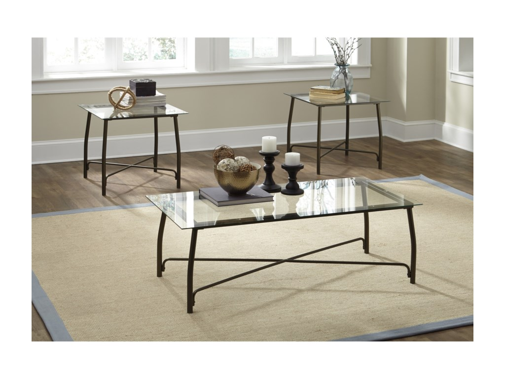 Signature Design by Ashley BurmesqueOccasional Table Set