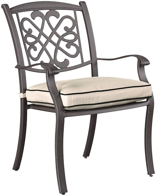 Signature Design by Ashley Burnella Set of 4 Outdoor Chairs with ...