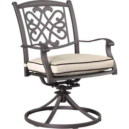 Set of 2 Outdoor Swivel Chairs w/ Cushion