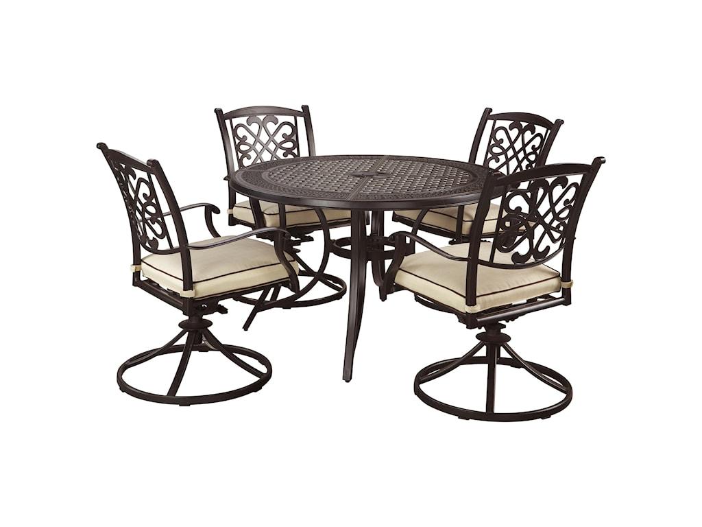 Ashley (Signature Design) Burnella5-Piece Outdoor Dining Set