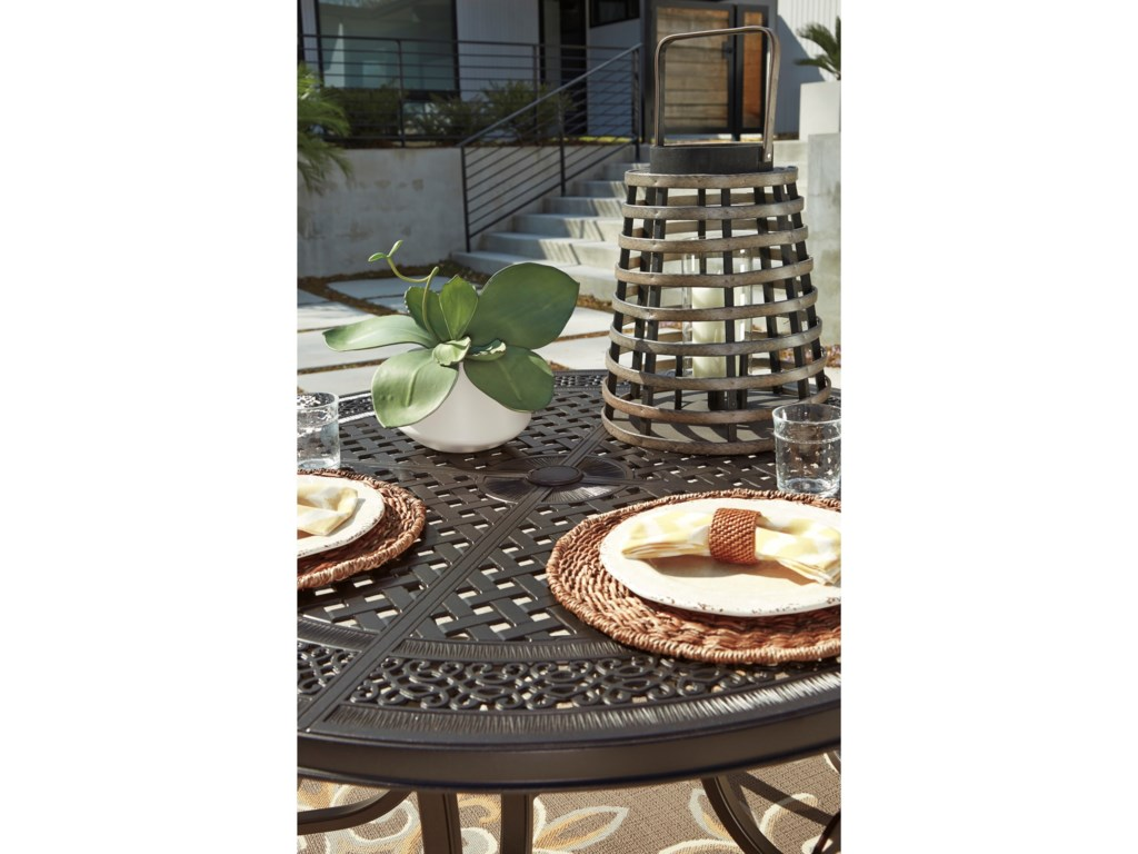Signature Design by Ashley BurnellaOutdoor Round Dining Table