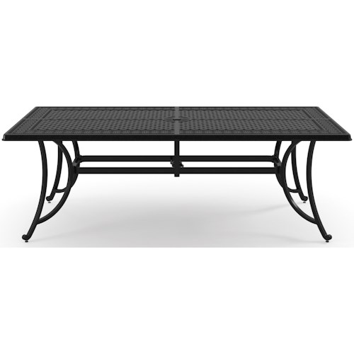 Signature Design By Ashley Burnella P Rectangular Dining - Black rectangular outdoor dining table
