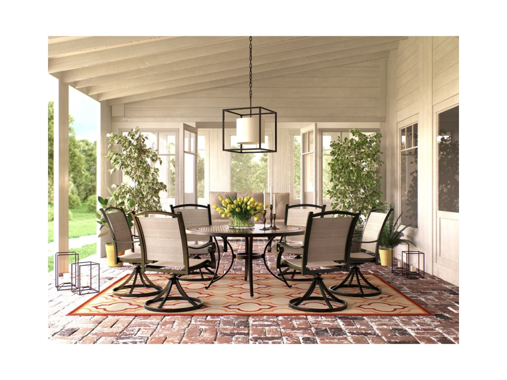 Signature Design by Ashley Burnella7 Piece Outdoor Dining Set