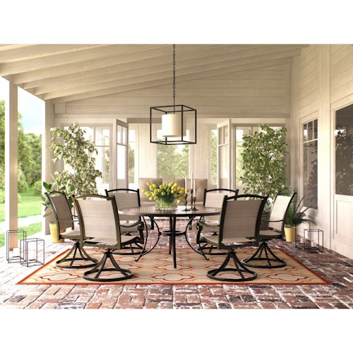 Signature Design by Ashley Burnella 7 Piece Outdoor Dining Set