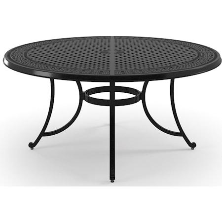 Large Round Dining Table w/ Umbrella Hole