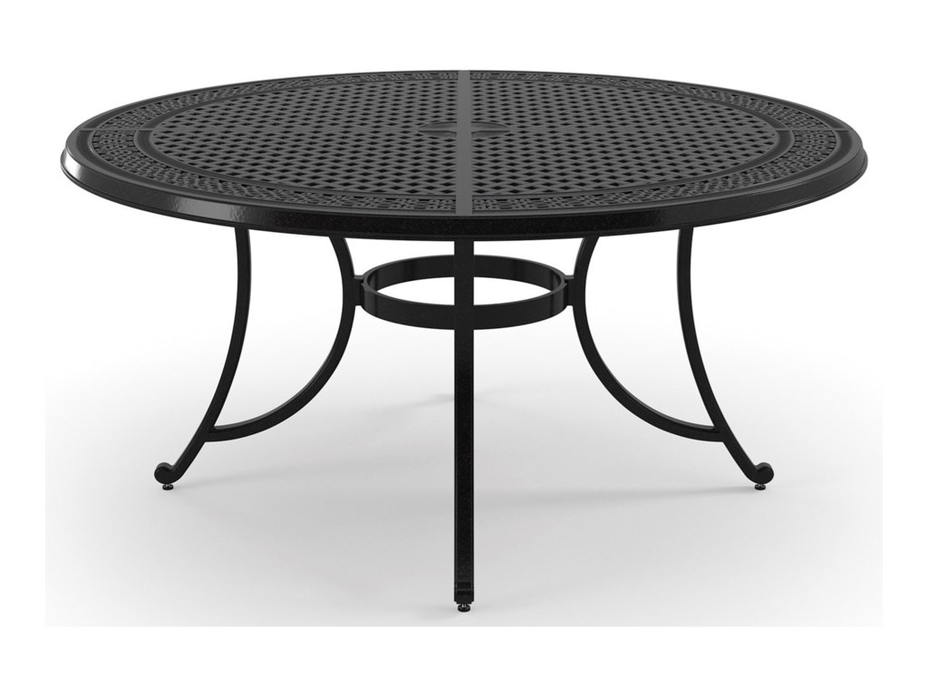 Signature Design by Ashley BurnellaLarge Round Dining Table w/ Umbrella Hole