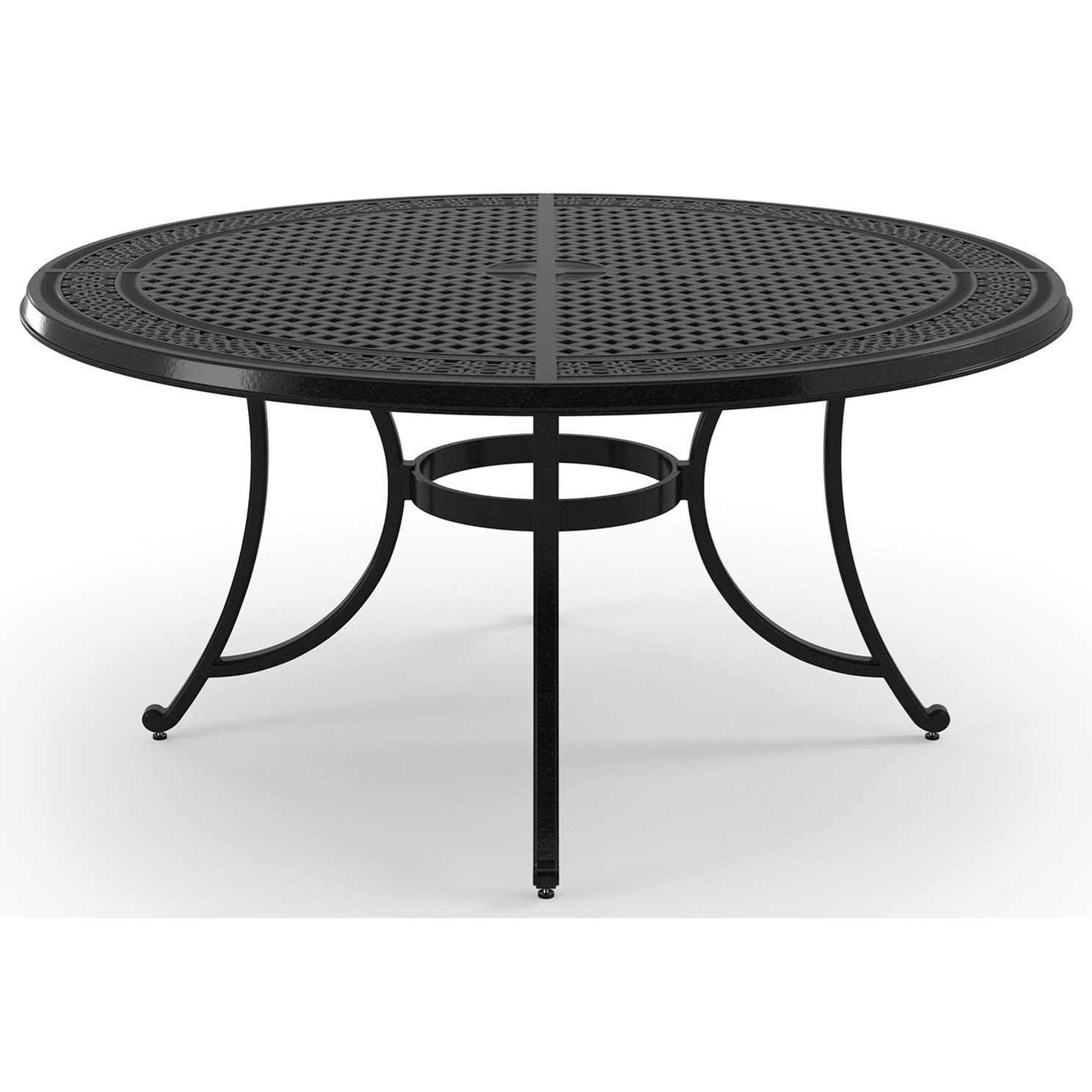 Signature Design By Ashley Burnella Large Round Dining Table With Umbrella  Hole