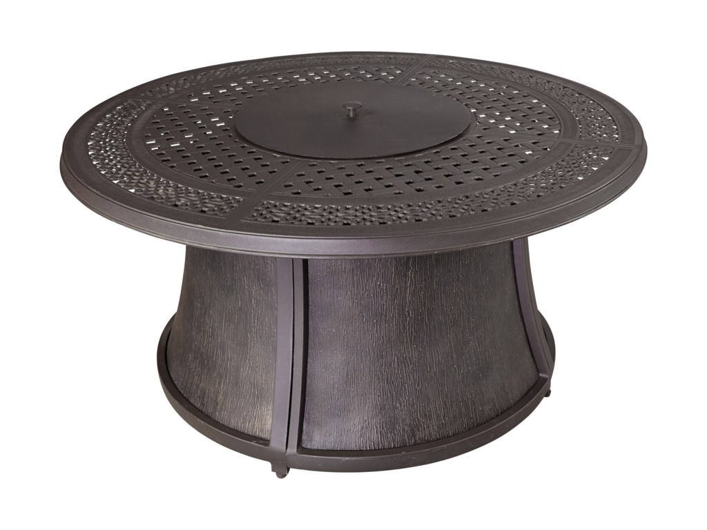 Signature Design by Ashley BurnellaOutdoor Round Fire Pit Table