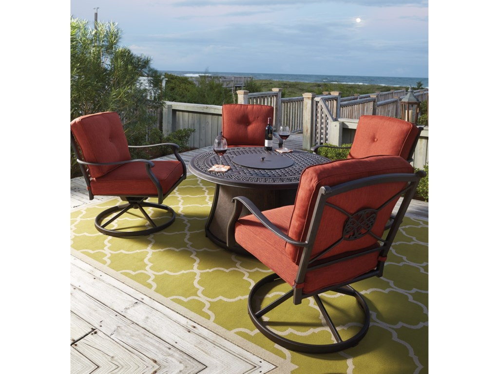Signature Design by Ashley BurnellaSet of 2 Outdoor Swivel Lounge Chairs