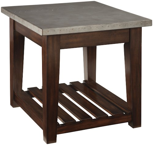 Signature Design by Ashley Bynderman Casual Rectangular End Table