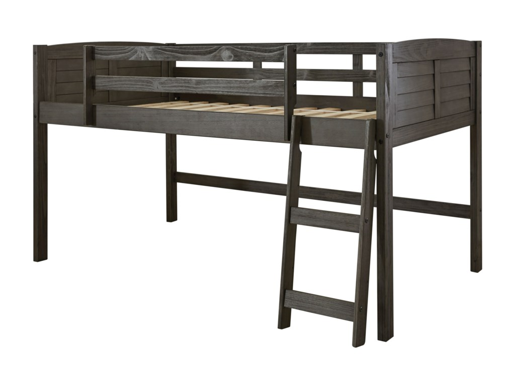Twin Loft Bed.Caitbrook Twin Loft Bed With Guard Rails By Ashley Signature Design At Dunk Bright Furniture