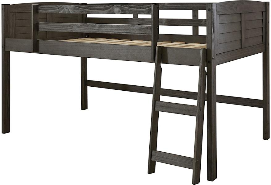 Ashley Signature Design Caitbrook Twin Loft Bed With Guard Rails Johnny Janosik Loft Beds