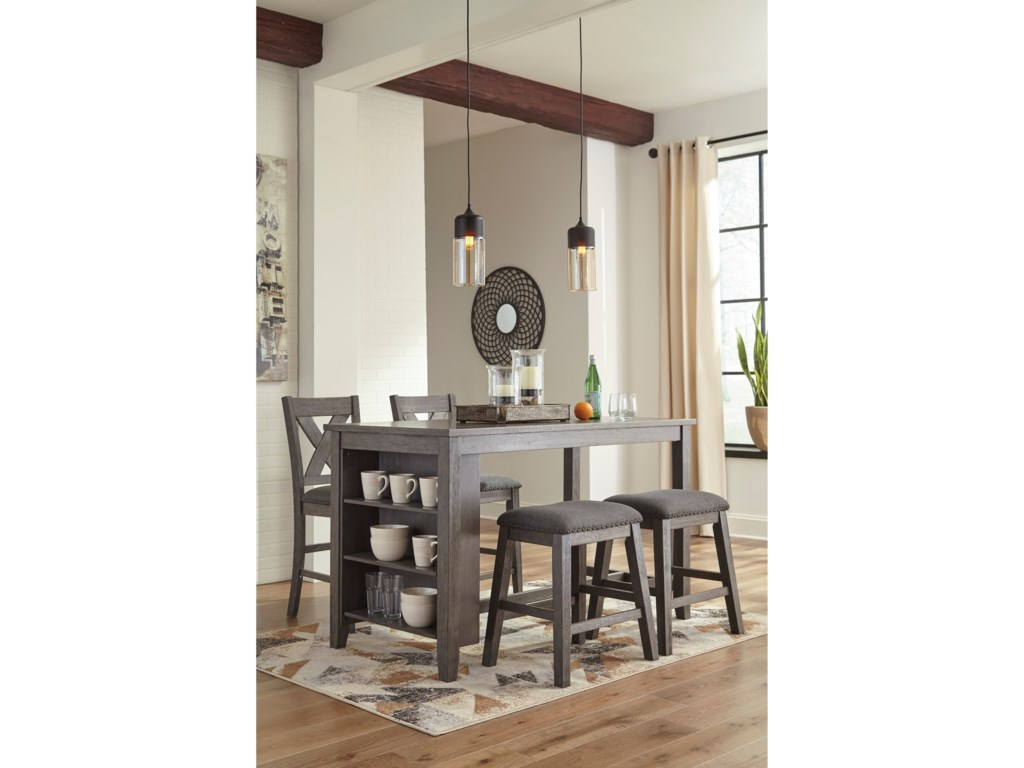 Signature Design by Ashley CaitbrookFive Piece Kitchen Island & Chair Set