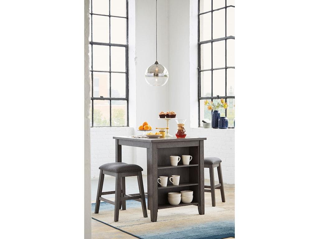 Signature Design by Ashley Caitbrook3-Piece Rectangular Counter Table Set