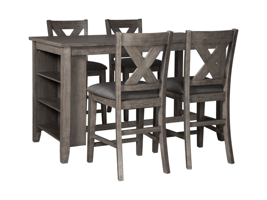 Signature Design by Ashley CaitbrookFive Piece Kitchen Island & Chair Set
