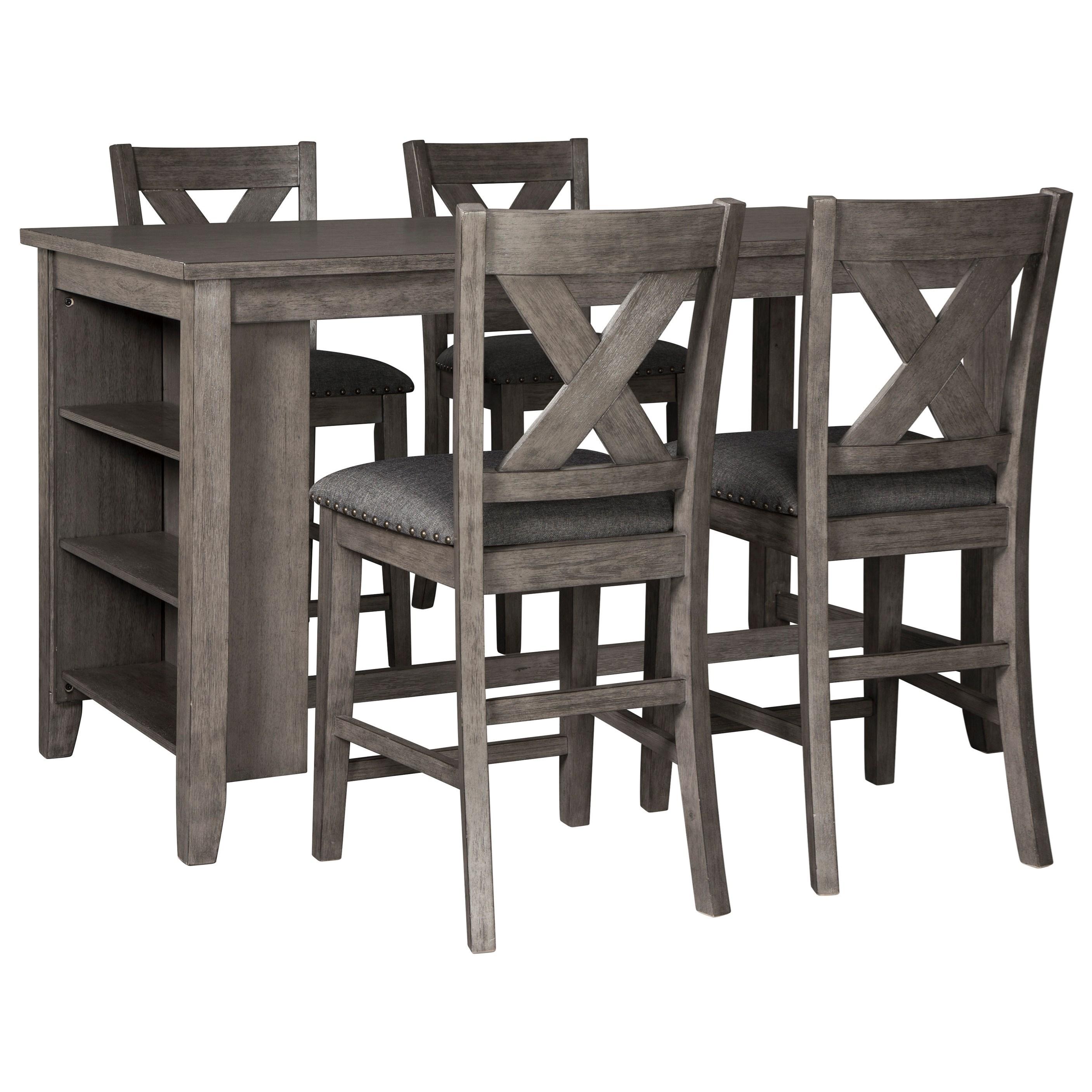 Exceptionnel Signature Design By Ashley CaitbrookFive Piece Kitchen Island U0026 Chair Set  ...