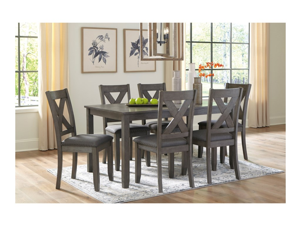 Signature Design by Ashley Caitbrook7-Piece Rectangular Dining Room Table Set