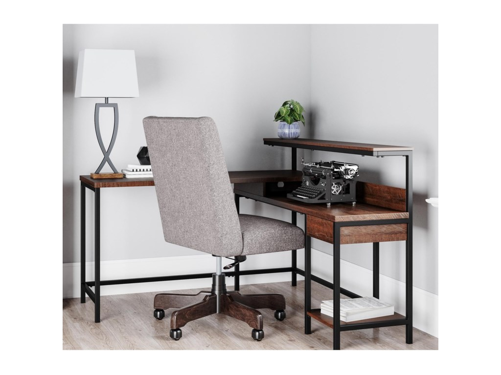 Signature Design by Ashley CamiburgL-Desk with Storage