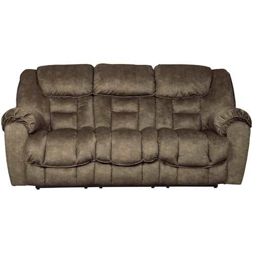 Signature Design by Ashley Capehorn Casual Contemporary Reclining Sofa