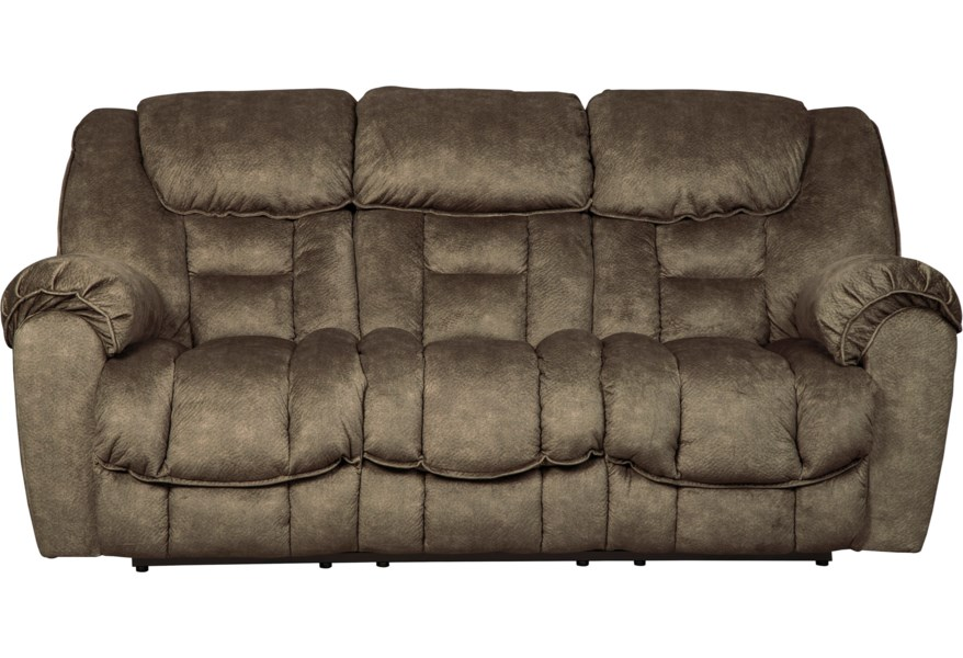 Capehorn Casual Contemporary Reclining Sofa by Signature Design by Ashley  at Furniture and ApplianceMart